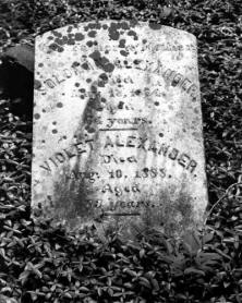 Marker at the Alexander Slave Cemetery.