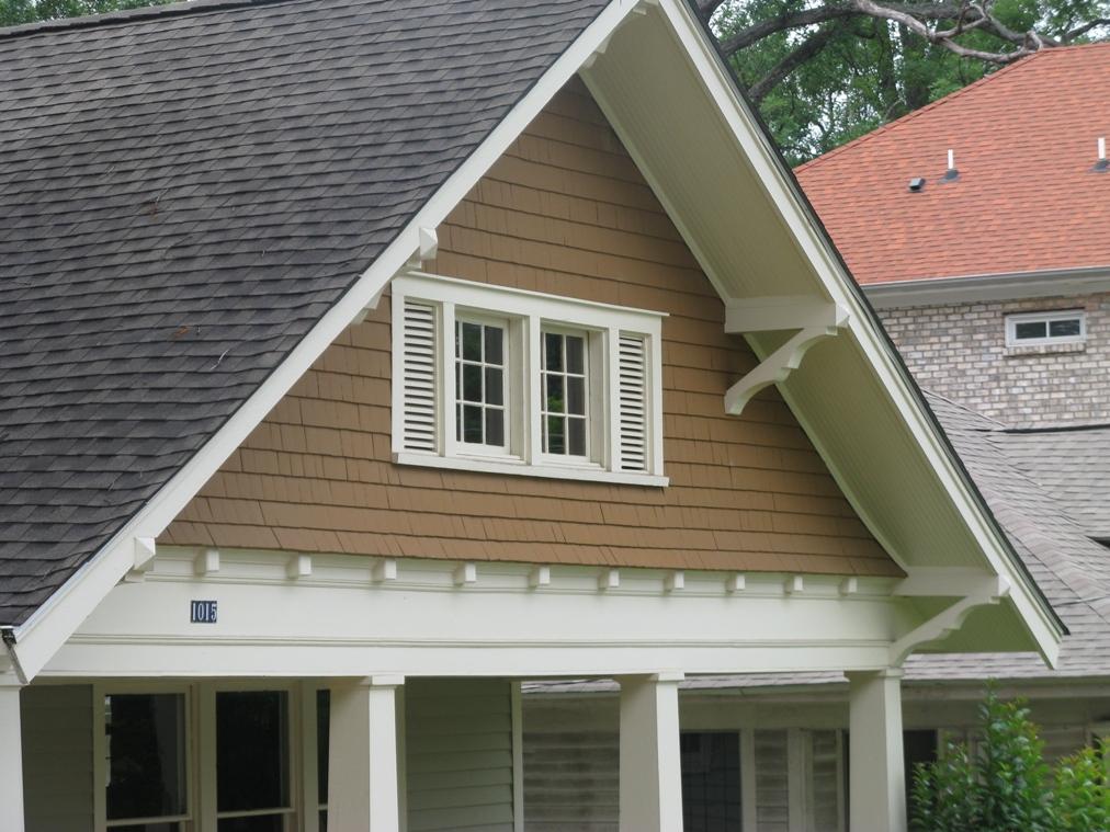 Woodlawn bungalow charlotte mecklenburg historic for Craftsman gable